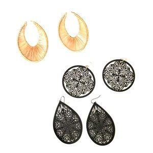 3 pairs of earrings.